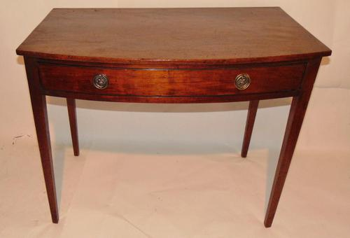 Georgian Mahogany Bow Side Table (1 of 7)