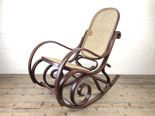 Bentwood Rocking Chair with Cane Seat (1 of 10)