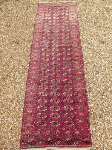 Rare Antique Tekke Turkman Carpet Runner (1 of 6)
