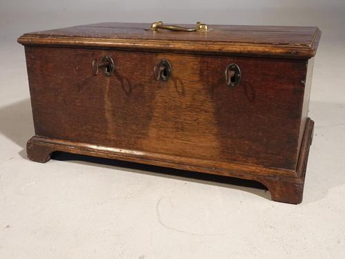George III Period Oak Security Box (1 of 5)