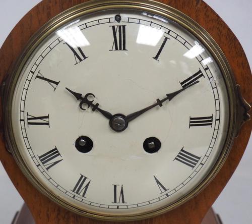 Impressive Solid Walnut Drum Head Striking Mantel Clock PHS Mantle Clock (1 of 12)