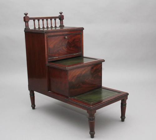19th Century mahogany library steps (1 of 11)