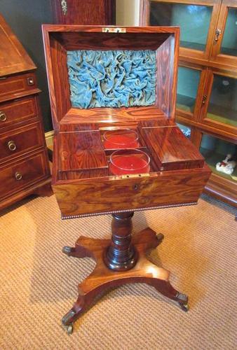 Fine Regency Period Rosewood Teapoy (1 of 12)