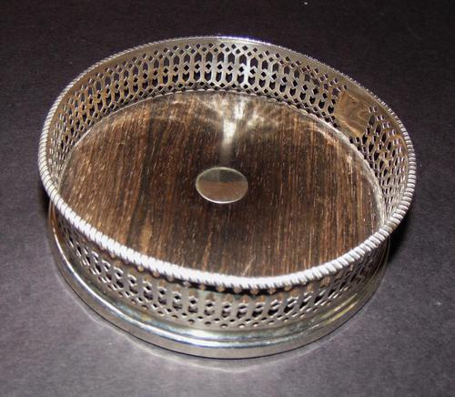 Solid Silver Wine Coaster 1841 (1 of 5)