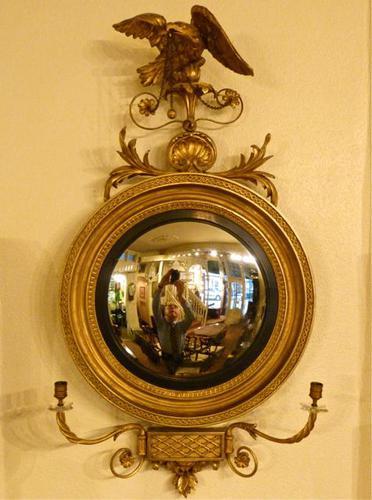 Pretty Regency Convex Mirror (1 of 4)
