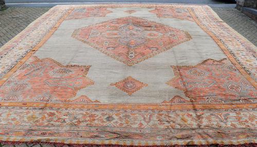Massive Antique Ushak Carpet 597x525cm (1 of 13)