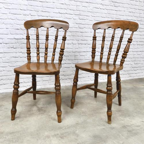 Pair of Windsor Spindleback Kitchen Chairs (1 of 5)
