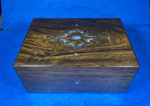 Victorian Rosewood Jewellery Box with Inlay (1 of 14)