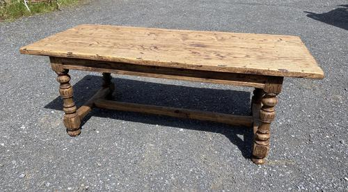 French Rustic Bleached Oak Farmhouse Dining Table (1 of 15)