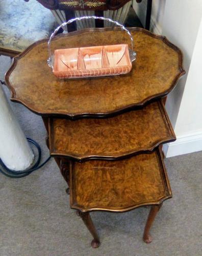 Burr Walnut Nest of Tables (1 of 7)