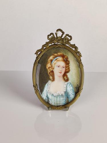 Ivory Miniature of a Lady (1 of 7)