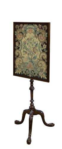 George III Chippendale Period Pole Screen (1 of 5)