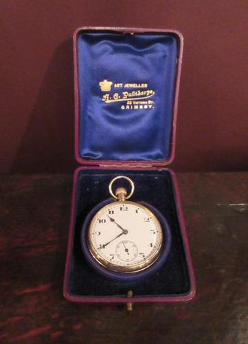 Fine George V Period 9 Carat Gold Pocket Watch (1 of 9)