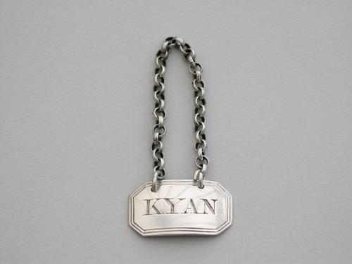 George III Silver Sauce Label 'kyan', By Thomas & James Phipps, London, C1820 (1 of 5)