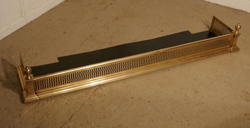 Victorian Pierced Brass Fireside Fender (1 of 6)