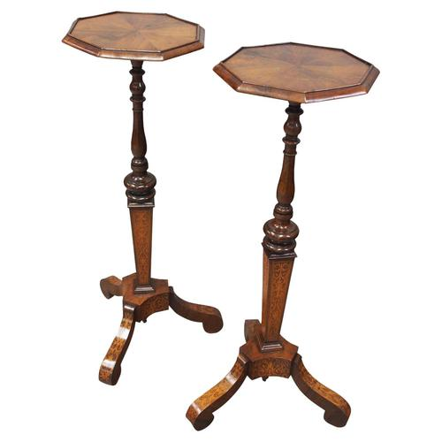 Pair of Queen Anne Style Torcheres / Candle Stands (1 of 9)