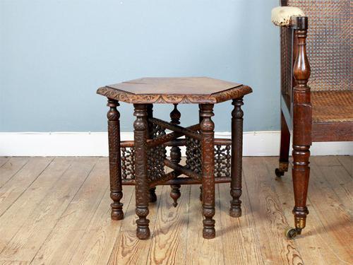 Antique Hexagonal Moorish Mashrabiya Table (1 of 5)