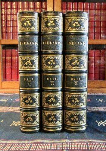 1850 Ireland,  Its Scenery & Character by Mr & Mrs Hall, Complete in 3 Fine Leather Volumes (1 of 9)