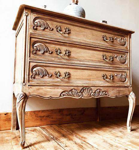 French Antique Style Small Chest of Drawers / Commode (1 of 4)