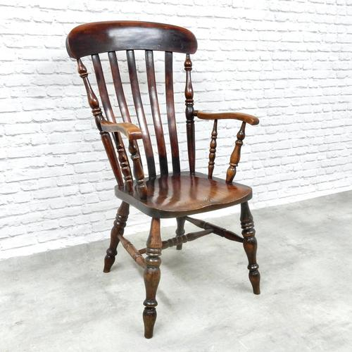 19th Century Lincolnshire Windsor Lathback Armchair (1 of 10)