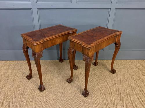 Pair of Burr Walnut Tea Tables (1 of 21)