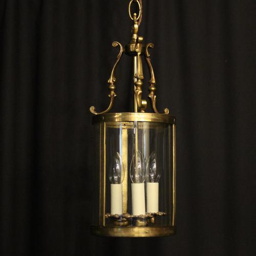 French Gilded Triple Light Antique Lantern (1 of 7)