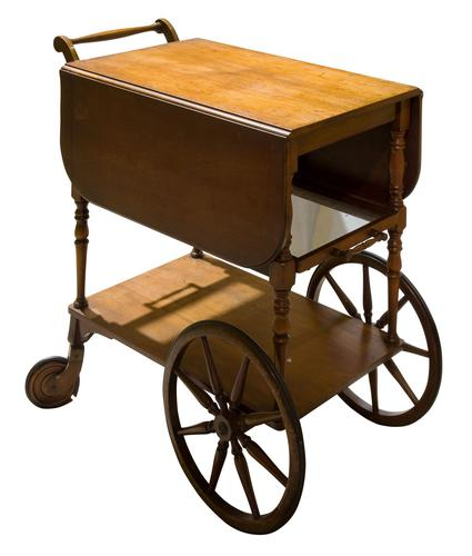 Vintage Mahogany Tea Trolley with Drop Down Flaps (1 of 7)