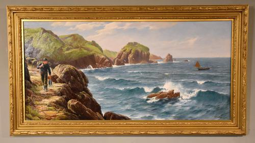 """Oil Painting by David James """"A Cornish Coastal View"""" (1 of 8)"""