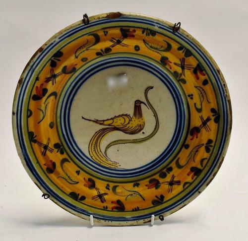 A 19th Century Majolica plate. (1 of 6)