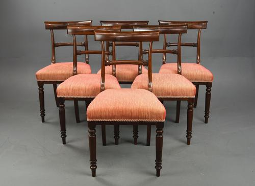 Set of 6 Regency Rosewood Bar Back  Dining Chairs (1 of 8)