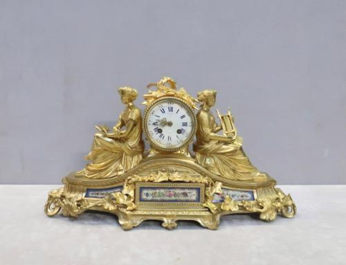 French Napoleon III Bronze Gilt Mantel Clock by Miroy Freres (1 of 13)