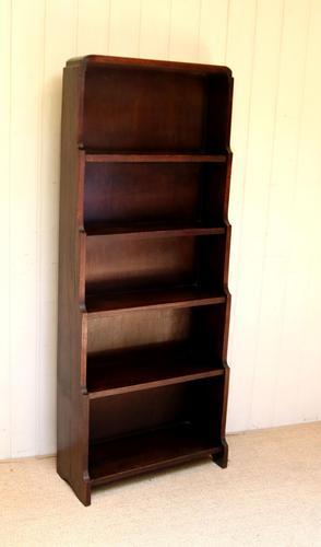 Oak Art Deco Open Bookcase (1 of 10)
