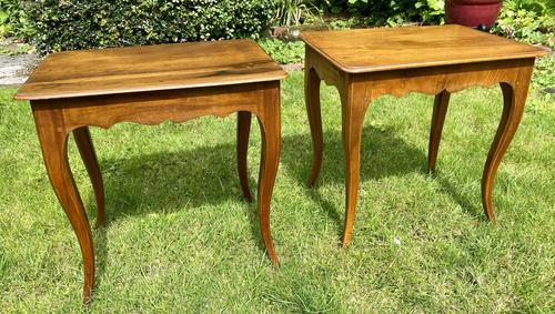 Pair of Walnut Side Tables (1 of 6)