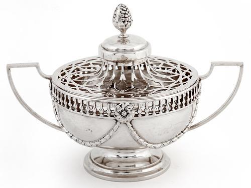 William Comyns Edwardian Silver Potpourri Bowl (1 of 6)