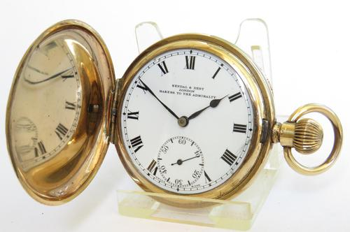 1920s Record Full Hunter Pocket Watch Originally Retailed by Kendal & Dent London (1 of 6)