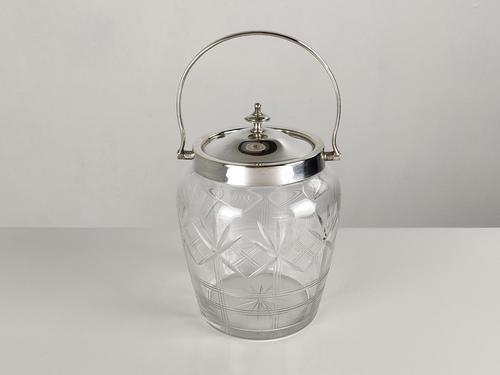 Vintage Cut Glass Biscuit Barrel (1 of 6)