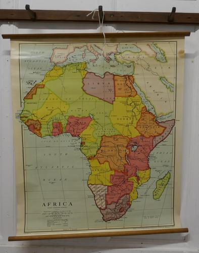 "Large University Chart ""Physical Map of Africa"" by Bacon (1 of 11)"