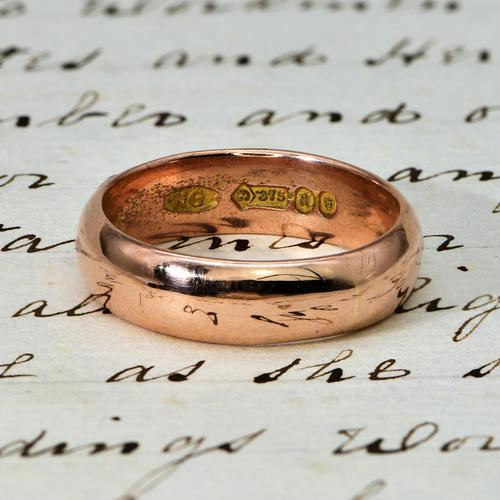 The Antique 1916 Rose Gold Wedding Ring (1 of 1)