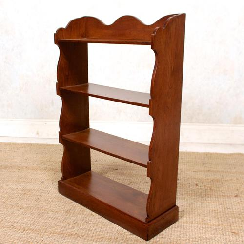 Oak Open Bookcase Waterfall Solid Carved (1 of 8)