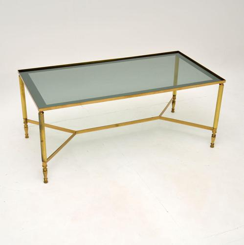 1960's Vintage French Brass Coffee Table (1 of 7)