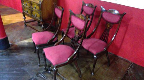 Edwardian Parlour Chairs (1 of 4)
