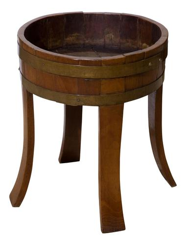 Late 19th Century Oak Coopered Brass Bound Planter (1 of 5)