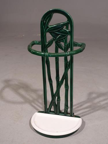 Small Late 19th Century Continental Enamel Stick Stand (1 of 5)