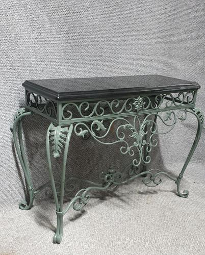 Very Nice Wrought  Iron Console Table (1 of 8)