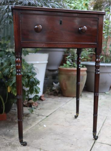 1820s Mahogany Single Drawer Work / Side Table (1 of 6)