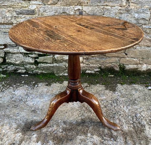 Large Georgian Oak Tilt Top Occasional Table (1 of 21)