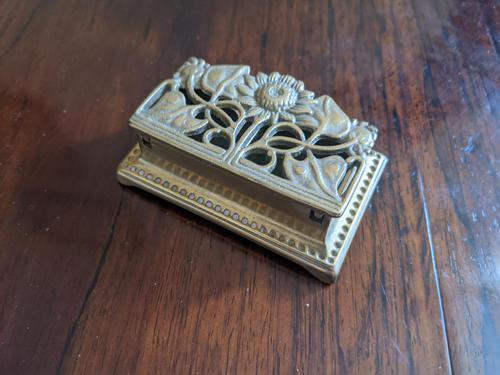 Art Nouveau Brass Stamp Tidy (1 of 4)