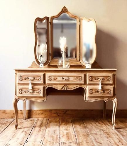 French Antique Dressing Table / Vintage Dressing Table / Louis XV Style Vanity (1 of 6)