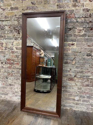 Steel Framed Mahogany Mirror (1 of 5)