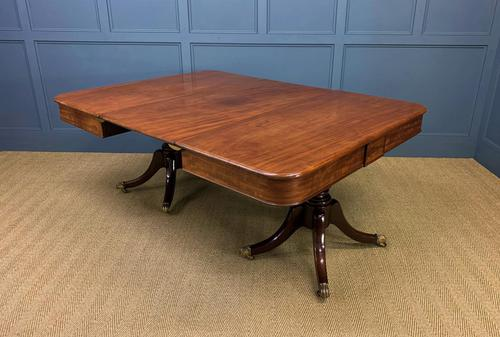 George IV Mahogany Twin Pillar Dining Table (1 of 15)
